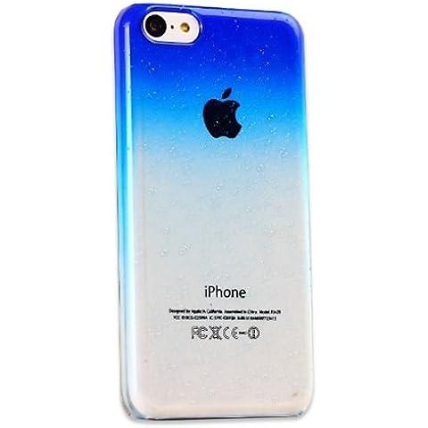 Patrón de gotas grano ABS cubierta de la caja dura de la PC para el iPhone 5C.