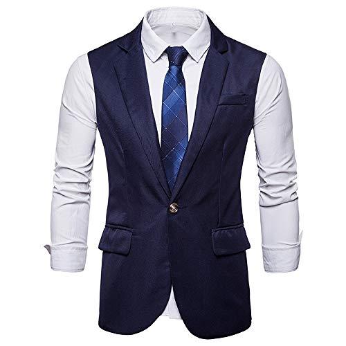 TWBB Tuxedo Passen Pullover Herren Weste Jacke Hochzeit Formal Waistcoat Schlank Ohne Ärmel Oberteile Tops