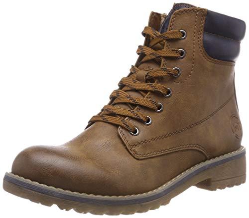 MARCO TOZZI Damen 26230-21 Combat Boots, Braun (Cognac Ant.Com 372), 41 EU