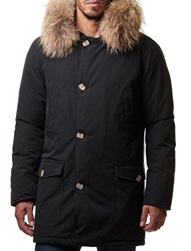 Herren winterjacke schwarz mit kapuze