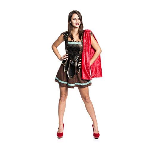 Kostüm Kriegerin Römische (Kostümplanet® Römerische-Kriegerin Kostüm Römer-Kostüm Damen Römerin Faschingskostüm Größe)