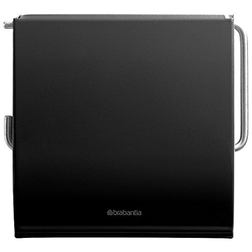 Brabantia 108600 Toilettenpapierhalter, Edelstahl, matt schwarz, 30 x 20 x 10 cm