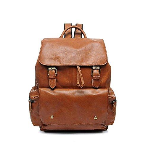 LF&F Backpack Rucksack 20L KapazitäT Vintage Casual ÖL Wachs Kuh Leder Rucksack Rucksack Bookbag Satchel Wandern Bag Outdoor-Sport GepäCk Taschen A 20L