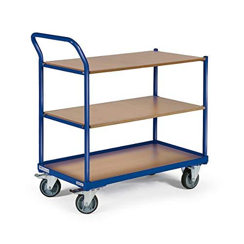 Certeo Tischwagen   250 kg   Ladefläche LxB 1000 × 600 mm  3 Ladeflächen -