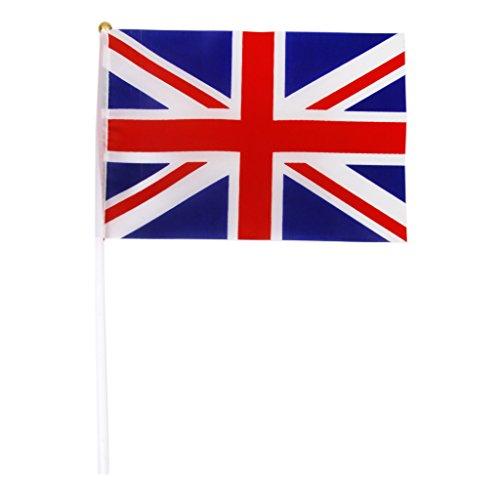 Union Jack Flagge England Grossbritannien Britische UK Banner mit Polen 12 Stk.