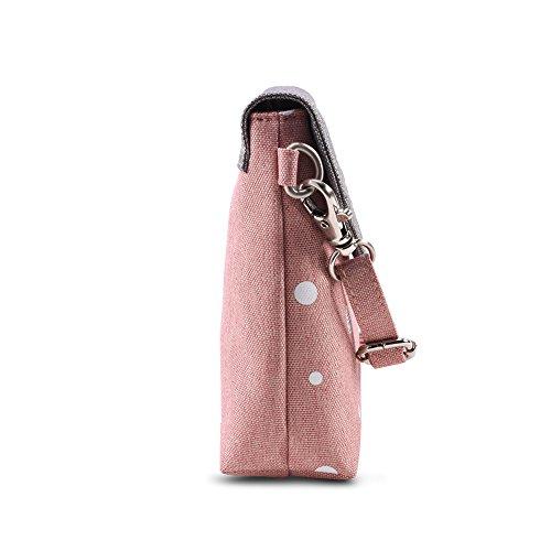 Bwiv Damen Canvas Umhängetasche Schultertasche Messenger Bag Crossbody Tasche für Outdoor F E