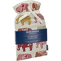 Blue Badge Company 2Liter Wärmflasche mit gepolstertem Baumwollbezug Indischer Elefant Muster preisvergleich bei billige-tabletten.eu