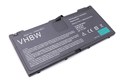 vhbw Batterie Li-Polymer 2800mAh (14.8V) pour Ordinateur Portable, Notebook HP ProBook 5330, 5330m. Remplace: FN04, HSTNN-DB0H et Autres