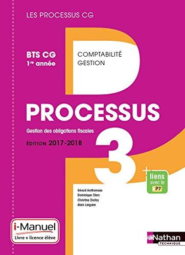 Processus 3 - BTS CG 1re année par Gérard Antitomaso