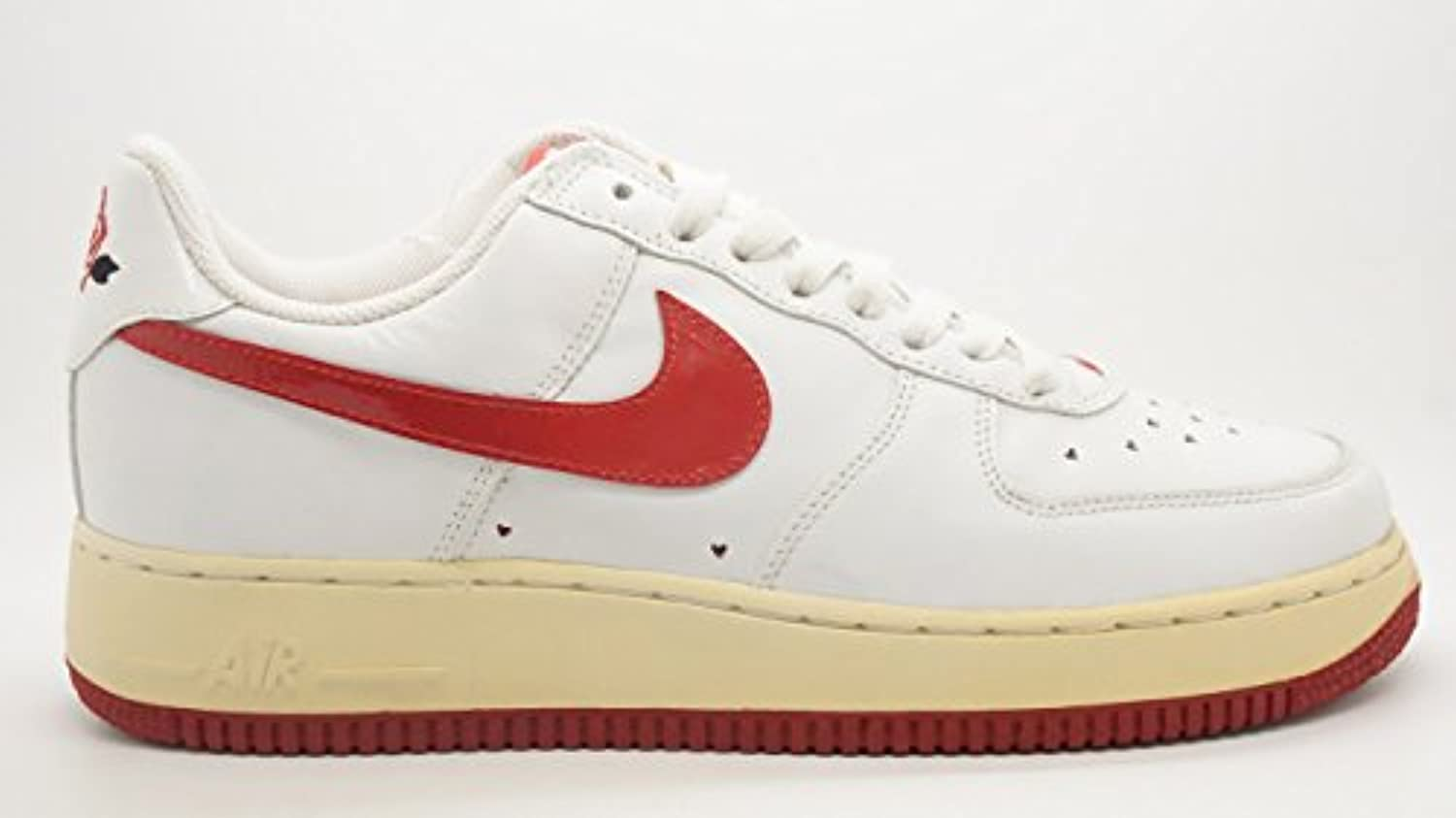NIKE [307109-165] AIR Force 1 Womens Shoes Varsity White Varsity Shoes RED 18f97e