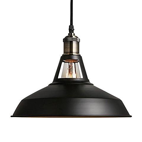 B2ocled 1 Black Ceiling Lights Metal Lamp Shades Industrial Pendant Light Ceiling Lighting Shade 27cm