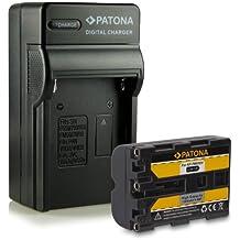 Bundle - 4en1 Cargador + Batería NP-FM500H para Sony Alpha DSLR-A100 A200 A300 A350 A450 A500 A550 A560 A580 A700 A850 A900 Sony SLT-A57 A58 A65 A77 SLT-A77 II SLT-A99 Sony ILCA-77M2