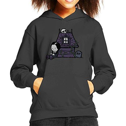 Strange Peanuts Wednesday Adams Family Kid's Hooded Sweatshirt