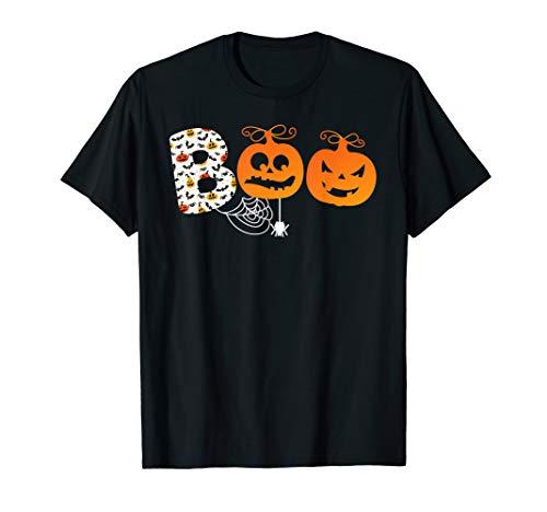 Halloween Stiefel Gruselig Kürbis Geschenk Spinne Hexe T-Shirt