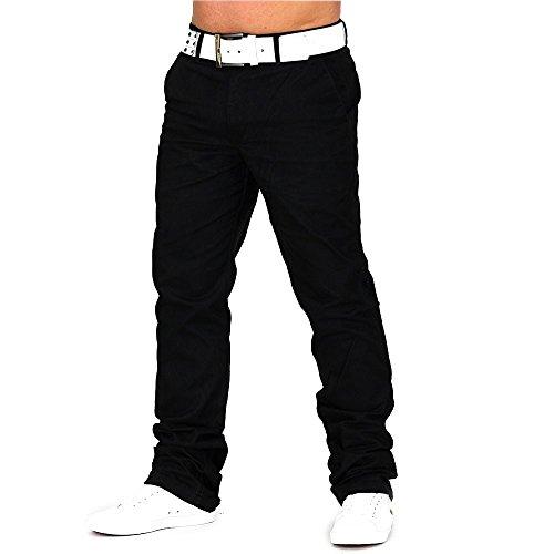 Herren Chino Hose Jeans Stoff-Hose H688,Schwarz,W30-W31 (Etikett 40) (Innen Am Bund)