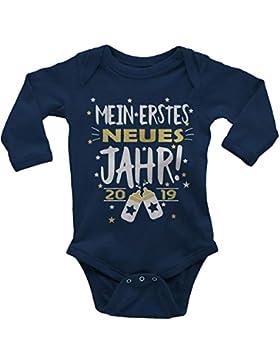 Mikalino Babybody Langarm Mein erstes Jahr! 2019 100% handbedruckt in Deutschland - bei 60 Grad waschbar mit Spruch