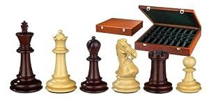 Philos 2265 Gratianus - Piezas de ajedrez (altura del rey 100 mm, peso extra, en caja), color marrón