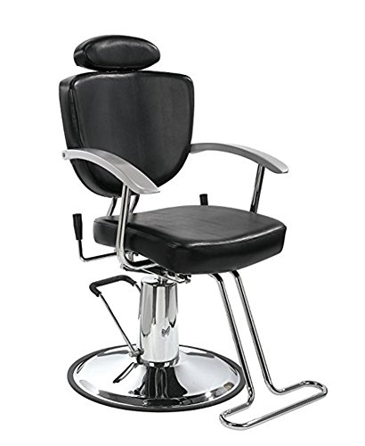 Sedie da barbiere tutti scopo classico idraulico reclinare sedia da barbiere bellezza terme shampoo attrezzatura (nero)