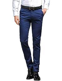 fd6c37788e503 Battercake Pantalones Planos De Traje De Los Hombres Pantalones Chinos De  Diseñador Pantalones Chinos Cómodo Pantalones