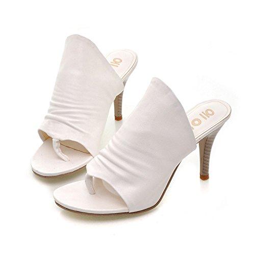 ZYUSHIZ Die Abteilung der Peace-Keeping Operations Ordner Sandalen den minimalistischen Stil Frau Freizeitaktivitäten Sandalen Hausschuhe 40EU