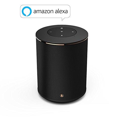 Hama Sirium1400ABT Smart-Lautsprecher (mit Integrierter Amazon Alexa, Bluetooth, Musikstreaming Via Wifi/WLAN und UPnP, Speaker z.B. für Smartphone/Tablet/PC, Wireless Box) schwarz