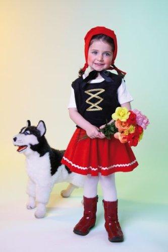 Karneval Kinder Kostüm Rotkäppchen Märchen Kleid Größe 98/104 (Mädchen Und Kleinkind Märchen Hexe Kostüm)