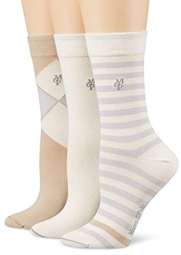 Marc O'Polo Body & Beach Damen Matt Fein Socken SOCKS WOMEN (3er Pack, Gr. 39/42 (Herstellergröße: 403), blue