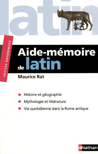 Aide-mémoire de Latin par Maurice Rat
