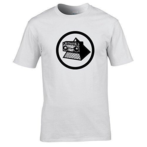 KLF Pyramid Blaster Logo T-shirt, White - S to XXL
