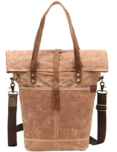 Menschwear Impermeabile Vintage Canvas Messenger Bags Casual Spalla Dell'imbracatura Pacchetto Daypack Beige Beige