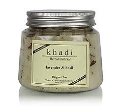 Khadi Lavender and Basil Bath Salt, 200g