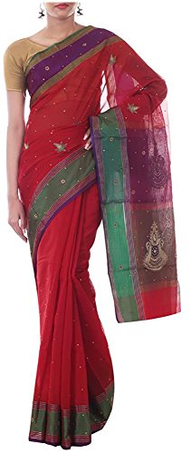 Neelam Sarees Women's Pure Silk Saree with Blouse Piece (Red )