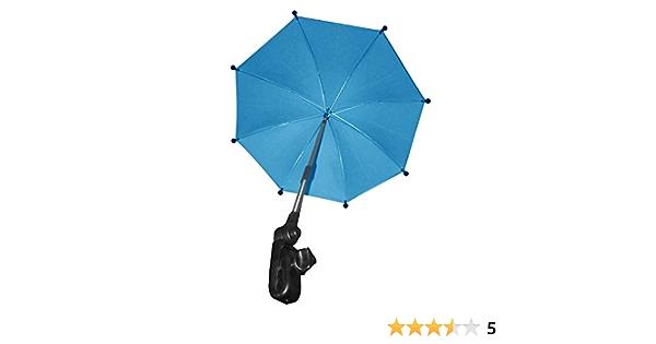 Parasol de soleil pour poussette porte-parapluie r/églable Sun Canopy poussette landau rayons UV soleil pluie parapluie clip