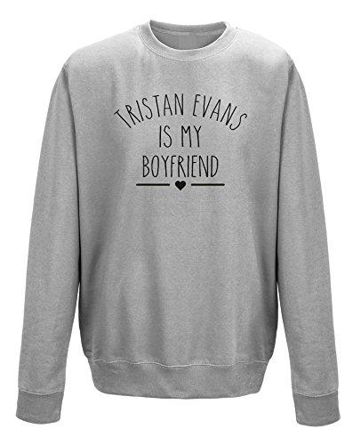 Tristan Evans ist My Boyfriend Unisex Sweatshirt Jumper Schwarz - Grau