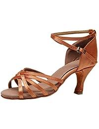 Yudesun Schuhe Damen Tanzschuhe Standard Latein Schuhe Performance Training Pailletten Ballsaal Square Tanzschuhe(Schuhe ist Kleiner)