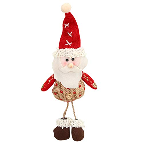 Ancjiape feine Handwerkskunst Weihnachtsmann Schneemann Weihnachtsmann Ornamente Weihnachtsbaum Dekoration Geschenke für Zuhause Dekoration Old Man Pendant - Schneemann Einen Man Wie