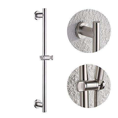 'KES F205–2Support mural pour salle de bain wc Bar diapositive réglable ronde, SUS304en acier inoxydable brossé