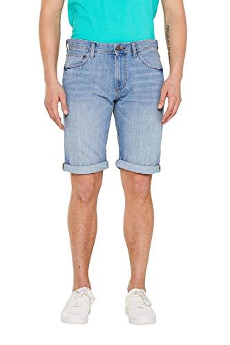 edc by ESPRIT Herren 049CC2C011 Shorts Blau (Blue Light Wash 903) W(Herstellergröße: 33)
