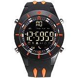Adisaer Herren Uhren Wasserdicht Wasserdicht Herrenuhr Partner Armbanduhr Multifunktional Orange Outdoor Sportuhr Armbanduhr Automatikuhr
