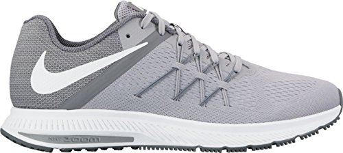 Nike Zoom Winflo 3, Chaussures de Running Entrainement Homme Wolf Grey/White-cool Grey-white