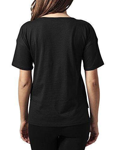 Urban Classics Ladies Tech Mesh Tee, T-Shirt Femme Noir - Schwarz (blk/blk 17)