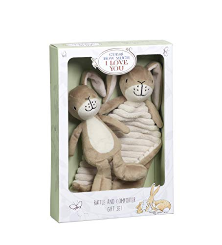 Guess How Much I Love You GH1515 Little Nutbrown Hare Rattle & Comfort Blanket Gift Set Geschenkset, braun Guess Baby Set