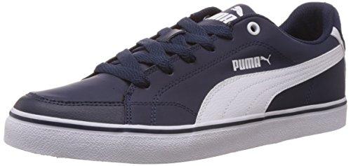 Puma Court Point Vulc, Sneakers basses homme Bleu - Blau (peacoat-white 01)