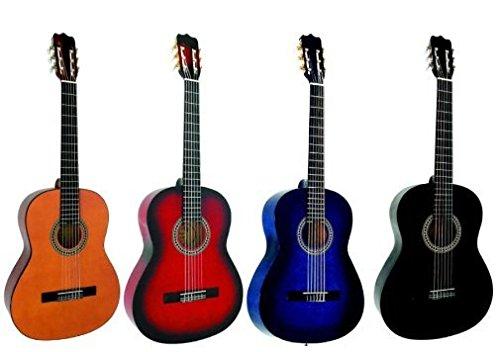 Guitarra Española 4/4 con juego de accesorios (6 accesorios incluidos) Azul