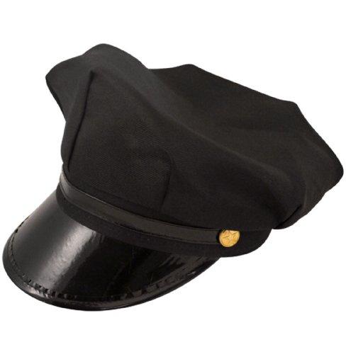 Fahrer Chauffeur Schwarzer Hut Erwachsenen Größe (Chauffeur Erwachsene Kostüme)