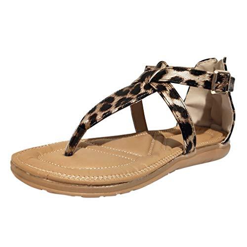 12e12338917bbf JYJM ❤ Sandalias de mujer Gladiador planas de verano Bohemia Bohemia  Bohemia Zapatos Glisser Remache