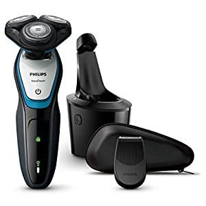 Philips Series 5000 Wet & Dry Electric Shaver with Clean & Charge Station for Men (UK 2-Pin Bathroom Plug)