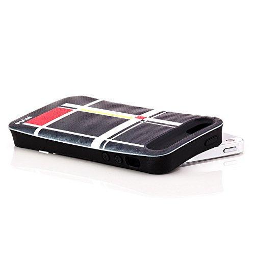 Saxonia Apple iPhone 5 5S SE Hülle Case Schutzhülle | Motiv: Kroko violett Kub-Rub 6