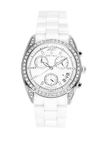 Stella Maris - STM15F1 - wrist watch for women - quartz movement analog display - white dial - white ceramic bracelet