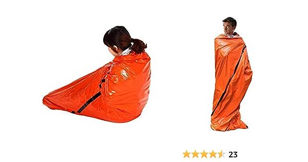 abri durgence ext/érieur randonn/ée Sac de couchage de survie durgence Woodland Camo Bivy Sack Ultralight Waterproof Thermal Space Blanket Survival Kits avec mousqueton sifflet pour camping